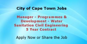 City of Cape Town Vacancies-Civil Engineering Job