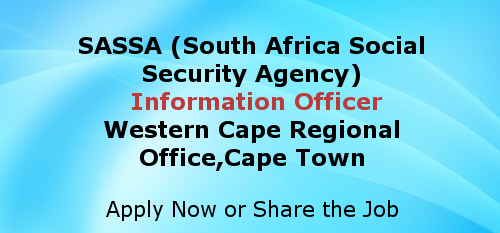 Government vacancies south africa