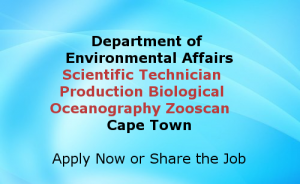 Scientific Technician Production Biological Oceanography Zooscan Cape Town Jobs