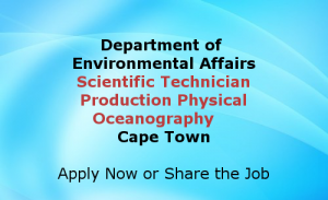 Scientific Technician Production Physical Oceanography Cape Town Jobs